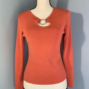 Cato women's orange longsleeve top